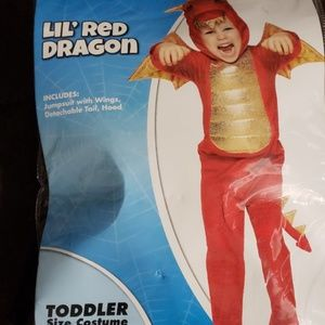 Lil' Red Dragon toddler Halloween  costume
